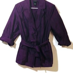 Lane Bryant Purple Silk Blend Top Size 20